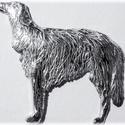 Álló agár medál, Ékszer, Képzőművészet, Medál, Egyedileg, kézzel viaszból mintázott, utána 925-ös ezüstből kiöntött medál  , Meska