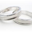 Ezüst homorú karikagyűrű pár, Ékszer, Esküvő, Gyűrű, Esküvői ékszer, 925-ös ezüst lemezből készítem a gyűrűket.  Egyedi kérésre lehet változtatást kérni a képen levőhöz ..., Meska