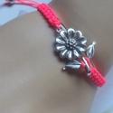VIRÁG!makramé karkötő neon, Ékszer, Karkötő,   Makramé karkötőt készítettem ,a virág szerelmeseinek   :).,neon  szálból.  A virág  3 cm ..., Meska