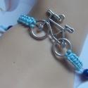 Kerékpáros karkötő ! Makramé kék, Ékszer, Karkötő,   Kerékpáros karkötőt készítettem makraméból . Viaszolt szálból .  Kerékpár mérete: 3 c..., Meska