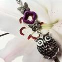 Bagoly-pillangó kulcstartó, Ékszer, óra, Baba-mama-gyerek, Gyerekszoba, Mobildísz, függődísz, Ékszerkészítés, Egy szép Baglyos  kulcstartó :)  Szereted a pillangót? Szereted a baglyot? Szereted a virágot?  Ebb..., Meska