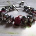 Kristály-shamballa   makramé karkötő (ezüst), Ékszer, Karkötő,   Makramé karkötőt készítettem csillogó kristály,és shamballa gyöngyből.  Ásványból ,é..., Meska