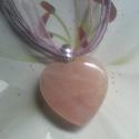 Szív ! Rózsakvarc  medál ! , Ékszer, óra, Medál, Nyaklánc, Ékszerkészítés, Gyönyörű színű .rózsakvarc medál. Mérete: 4 cm Az ásványok kedvelőinek ajánlom.  , Meska