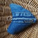 Farmer kulcstarto Parizs, Baba-mama-gyerek, Ékszer, Szerelmeseknek, Farmerbol készítettem ezt a kulcstarto, taskadisz. KB 12 cm, Meska