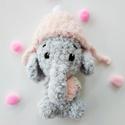 Horgolt bébi elefánt, Baba-mama-gyerek, Játék, Játékfigura, Horgolás, Alize softy fonalból horgoltam ezt a kis fázós elefánt bébit. Feje búbjától lába ujjáig 14cm magas...., Meska