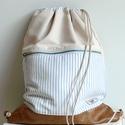 Hátizsák, tornazsák , Táska, Hátizsák,  Nyaraláshoz, sportoláshoz szuper hátizsák. Talpsa textilbőr, anyaga különféle erős vásznak. Elöl eg..., Meska