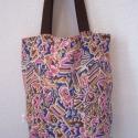"""""""Vagabond""""- kifordítható táska, Táska, Válltáska, oldaltáska, Szatyor, Színes, mintás egyszerű táska, amely kifordítva egyszínű, világosbarna táskává változik...., Meska"""
