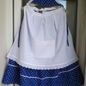 Kékfestő szett, Ruha, divat, cipő, Női ruha, Szoknya, Kékfestő mintájú szoknya, fehér köténnyel, pártával. Ezeket a szetteket megrendelésre készítettem, d..., Meska