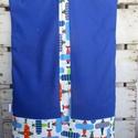 Repülős oviszsák , Baba-mama-gyerek, Gyerekszoba, Tárolóeszköz - gyerekszobába, Varrás, Repülő mintás designtextilből és kék színű pamutvászonból készült oviszsák. Béléssel, 2 zsebbel. Mé..., Meska