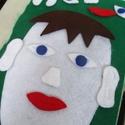 """"""" Az arc részei""""- készségfejlesztő játék, Játék, Készségfejlesztő játék, Varrás, Az arc részeit tanulhatják meg játékosan a gyerekek, akár otthon, akár az óvodában. A részek (szeme..., Meska"""
