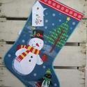 Karácsonyi stockingok (nagy), Dekoráció, Baba-mama-gyerek, Gyerekszoba, Tárolóeszköz - gyerekszobába, Amerikai szokás a kandallóra akasztott stocking, azaz zokni, amit a Mikulás telerak mindenféle jóval..., Meska