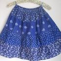Kékfestő szoknya három mintával (3.), Ruha, divat, cipő, Gyerekruha, Kamasz (10-14 év), Kékfestő mintájú lányka szoknya.  Érdekessége, hogy háromféle kékfestő anyagból készült, amelyek rán..., Meska