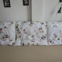 Vintage rózsás falvédő , Otthon, lakberendezés, Lakástextil, Falvédő, Vintage rózsás és fehér színű négyzetekből, puha töltettel készült falvédő tetszőleges méretben. Kül..., Meska