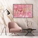 Pink dream fluid art akril festmény, Művészet, Festmény, Akril, Festészet, Pink-fehér-arany-rózsaszín színű fluid art akril festmény, igazi absztrakt. Tökéletesen feldob mind..., Meska