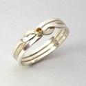 Köves (citrin) 3-as ördöglakat gyűrű, Ékszer, Férfiaknak, Gyűrű, Ékszer, kiegészítő, A képen látható ékszer nem egy szokványos gyűrű, mint ahogy az első ránézésre tűnik, ugyanis az ujjr..., Meska