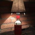 Jack Daniel's  fire lámpa, Férfiaknak, Otthon, lakberendezés, Lámpa, Legénylakás, Üvegművészet, Jack Daniel's fire üvegből készült különleges olvasólámpa kapcsolóval.  Méret: szélesség 16* magass..., Meska