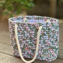 Horgolt, nyári táska , Pólófonalból készült ez a közepes méretű n...
