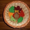 Őszi filc dekoráció, erdei állatok, Baba-mama-gyerek, Dekoráció, Otthon, lakberendezés, Az állatok 8-10 cm magasak. Kérhetők akasztóval vagy anélkül. A levelek csak dekoráció, kül..., Meska