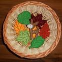 Őszi filc dekoráció, erdei állatok, őzike, Baba-mama-gyerek, Dekoráció, Otthon, lakberendezés, Az állatok 8-10 cm magasak. Kérhetők akasztóval vagy anélkül. A levelek csak dekoráció, kül..., Meska