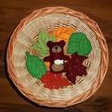 Őszi filc dekoráció, erdei állatok, maci, Baba-mama-gyerek, Dekoráció, Otthon, lakberendezés, Az állatok 8-10 cm magasak. Kérhetők akasztóval vagy anélkül. A levelek csak dekoráció, kül..., Meska