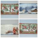 Téli mintájú fali képek, Otthon, lakberendezés, Falikép, Fali képek 16x32 cm-es méretben., Meska