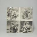 Vintage hatású fali képek, Otthon, lakberendezés, Falikép, Vintage hatású 16x16 cm-es fali képek., Meska