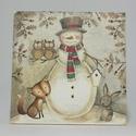 Téli fali képek gyerekeknek, Otthon, lakberendezés, Falikép, 16x16 cm-es téli fali képek gyerekek részére., Meska