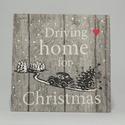 Karácsonyi fali kéepk, Otthon, lakberendezés, Falikép, 16x16 cm-es karácsonyi fali képek, Meska
