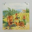 Konyhai fali képek, Otthon, lakberendezés, Falikép, Fali képek 16x16 cm-es méretben., Meska