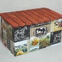 Tároló doboz, Otthon, lakberendezés, Asztaldísz, A doboz mérete 22x112x13 cm, Meska