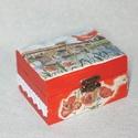 Pipacsos doboz, Otthon, lakberendezés, Tárolóeszköz, Doboz, Decoupage, transzfer és szalvétatechnika, Pipacsos dobozka. Mérete 10x7x6 cm, Meska