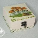 Cicás doboz, Otthon, lakberendezés, Dekoráció, Tárolóeszköz, Doboz, Aranyos cicákkal díszített doboz.  , Meska