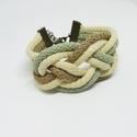Vegyes barna zsinór kartötő, Ékszer, Karkötő, Vegyes barna színű zsinór karkötő A karkötő teljes kerülete : 16 cm + lánchosszabbító  , Meska