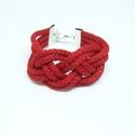 Piros zsinór karkötő, Ékszer, Karkötő, piros színű zsinór karkötő A karkötő teljes kerülete : 16 cm + lánchosszabbító , Meska