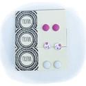 Rózsaszín-fehér  fülbevaló szett , Ékszer, Fülbevaló, Ékszerkészítés, Rózsaszín-fehér  fülbevaló szett A szett 3 pár fülbevalót tartalmaz A fülbevaló 12 mm átmérőjű, Meska