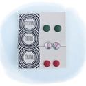 Zöld-piros virágos fülbevaló szett 2., Ékszer, Fülbevaló, Zöld -piros virágos fülbevaló szett A szett 3 pár fülbevalót tartalmaz A fülbevaló 12 mm á..., Meska
