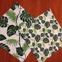 Levél mintás  újraszalvéta,textilszalvéta tízórai,uzsonna csomagolására, Levél mintás    zero waste ujraszalvéta, textil...