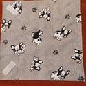 Kutya mintás  újraszalvéta,textilszalvéta tízórai,uzsonna csomagolására, Kutya mintás    zero waste ujraszalvéta, textils...