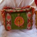 Nagy méretű mediterrán díszes táska, A táska egyedi megrendelésre készült, erős sz...