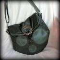 Szürke-kék táska pöttyökkel, A táska alapja valódi bőrből készült, pontos...