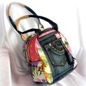 Tavaszi zsongás táska , Táska, Válltáska, oldaltáska, Női ruha, A tavaszi zsongás táska ősszel is egy kis színt visz az életedbe :) Virágok, színek kavalkádja, pött..., Meska