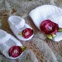 Horgolt baba sapka+ cipő szett 0-3 hó, 3-6 hó, Baba-mama-gyerek, Ruha, divat, cipő, Hajbavaló, Hajpánt, Horgolás, Kézzel horgolt baba sapka + cipő szett keresztelőre, vagy ajándéknak is kiváló választás   Rendelhe..., Meska