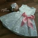 Alkalmi , keresztelő kislány ruha+ fejpánt több méretben , Baba-mama-gyerek, Ruha, divat, cipő, Gyerekruha, Baba (0-1év),   Alkalmi- keresztelő  kislány ruha + fejpánt  Felső része Szatén  Szoknya: tüll, és hímzet..., Meska