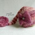 Kötött baba sapka 0-3 hónapos méret , Baba-mama-gyerek, Ruha, divat, cipő, Gyerekruha, Baba (0-1év), Kötés, Kézzel kötött  babasapka - Egyedi darab - fotózásra Mérete : 0-3 hó ( 56- os ) 33-38 cm- es fejmére..., Meska