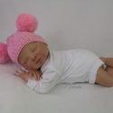 Kötött baba sapka 0-3 hónapos méret , Baba-mama-gyerek, Ruha, divat, cipő, Gyerekruha, Baba (0-1év), Kötés, Kézzel kötött  babasapka  Mérete : 0-3 hó 36-42 cm- es fejméretig     Anyaga:  baba barát  akril  f..., Meska