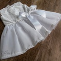 Alkalmi ,keresztelő kislány ruha több méretben , Baba-mama-gyerek, Ruha, divat, cipő, Gyerekruha, Baba (0-1év),   Alkalmi-   keresztelő kislány ruha Felső része  bélelt  csipke  szoknya rész tüll- muszlin ..., Meska