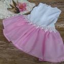 Alkalmi ,keresztelő kislány ruha 68-as méret, Baba-mama-gyerek, Ruha, divat, cipő, Gyerekruha, Baba (0-1év),   Alkalmi-   keresztelő kislány ruha Felső része   csipke , szoknya rész tüll- muszlin    Mér..., Meska