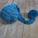 Kötött újszülött baba sapka 0-3 hónapos méret , Baba-mama-gyerek, Ruha, divat, cipő, Gyerekruha, Baba (0-1év), Kézzel kötött  babasapka  Mérete : 0-3 hó 33-38 cm- es fejméretig     Anyaga:  baba barát   a..., Meska