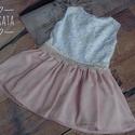 Alkalmi ,keresztelő kislány ruha 68-74-es méret , Baba-mama-gyerek, Ruha, divat, cipő, Gyerekruha, Baba (0-1év),   Alkalmi-   keresztelő kislány ruha Felső része  bélelt  csipke  szoknya rész tüll- muszlin ..., Meska