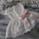 Alkalmi ,keresztelő kislány ruha 56-os méret ,  Ekrü színű Alkalmi-   keresztelő kislány ruh...